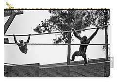 Carry-all Pouch featuring the photograph Chimps In Black And White by Miroslava Jurcik