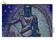 China Contemplation On Antiquity Carry-all Pouch by Saundra Myles