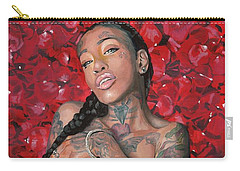 Carry-all Pouch featuring the painting China Dawl by Baroquen Krafts