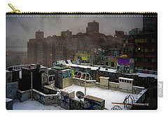 Carry-all Pouch featuring the photograph Chinatown Rooftops In Winter by Chris Lord