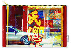 Chinatown Window Reflection 1 Carry-all Pouch