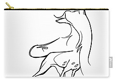 Chinese Crested Gesture Sketch Carry-all Pouch
