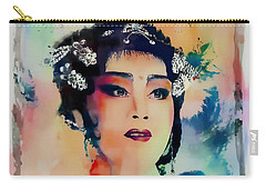 Chinese Cultural Girl - Digital Watercolor  Carry-all Pouch