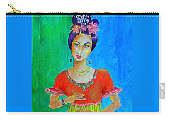 Chinese Dancer -- The Original -- Portrait Of Asian Woman Carry-all Pouch