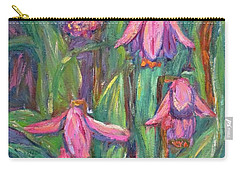 Carry-all Pouch featuring the painting Chinese Orchids by Kendall Kessler