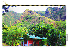 Carry-all Pouch featuring the photograph Chinese Pagoda In Maui by Michael Rucker