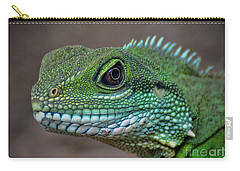 Carry-all Pouch featuring the photograph Chinese Water Dragon by Savannah Gibbs