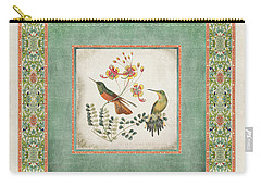 Chinoiserie Vintage Hummingbirds N Flowers 1 Carry-all Pouch