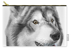 Carry-all Pouch featuring the drawing Chinook by Peter Piatt
