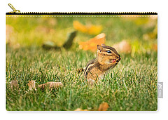 Chipmunk Licking His Paws Carry-all Pouch