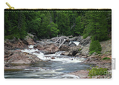 Carry-all Pouch featuring the photograph Chippewa Falls And River by Rachel Cohen
