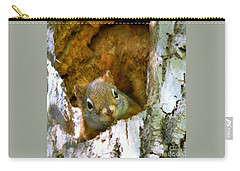 Carry-all Pouch featuring the photograph Chippy by Elfriede Fulda