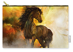 Chitto Black Spirit Horse Carry-all Pouch by Shanina Conway