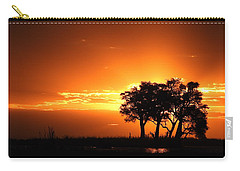 Carry-all Pouch featuring the photograph Chobe River Sunset by Betty-Anne McDonald