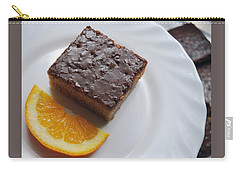 Chocolate And Orange Carry-all Pouch by Marija Djedovic