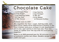 Chocolate Cake Recipe Carry-all Pouch