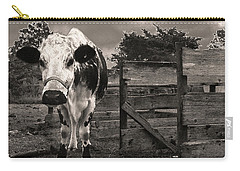 Carry-all Pouch featuring the photograph Chocolate Chip At The Stables by T Brian Jones