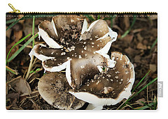 Carry-all Pouch featuring the photograph Chocolate Covered Marshmallow Mushrooms by Sheila Brown