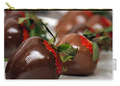 Chocolate Covered Strawberries 2 Carry-all Pouch by Andee Design