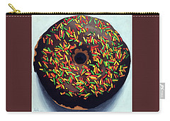 Chocolate Donut And Sprinkles Oil Painting Carry-all Pouch