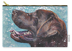 Chocolate Labrador Retriever Carry-all Pouch by Lee Ann Shepard