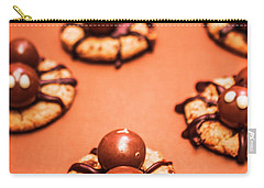 Chocolate Peanut Butter Spider Cookies Carry-all Pouch by Jorgo Photography - Wall Art Gallery