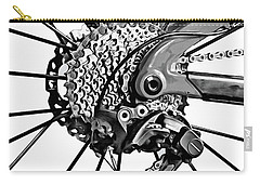 Carry-all Pouch featuring the digital art Choice Transport 2 Bw by Wendy J St Christopher