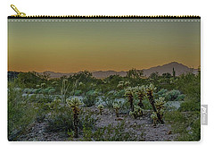 Cholla Desert Sunset Carry-all Pouch