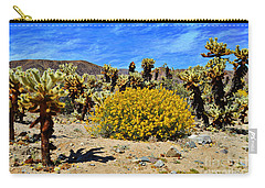 Cholla Garden Of Joshua Tree National Park Carry-all Pouch by Glenn McCarthy Art and Photography
