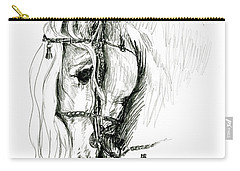 Chomping At Bit - Sketch1 Carry-all Pouch by Shirley Heyn