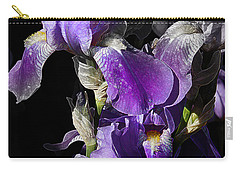Carry-all Pouch featuring the photograph Chris' Garden - Purple Iris 1 by Stuart Turnbull