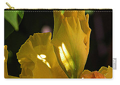 Carry-all Pouch featuring the digital art Yellow Iris by Stuart Turnbull