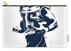 Chris Hogan New England Patriots Pixel Art Carry-all Pouch by Joe Hamilton