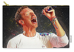 Chris Martin - Coldplay Carry-all Pouch by Semih Yurdabak