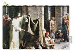Christ Christ And The Man At The Healing Wel Carry-all Pouch by Carl Heinrich Bloch