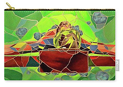 Christ In Stained Glass Carry-all Pouch