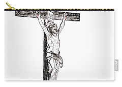 Christ On Cross Carry-all Pouch
