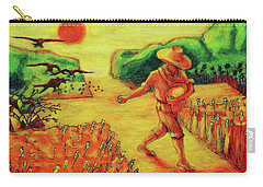 Carry-all Pouch featuring the painting Christian Art Parable Of The Sower Artwork T Bertram Poole by Thomas Bertram POOLE