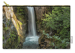 Carry-all Pouch featuring the photograph Christine Falls by Belinda Greb
