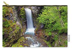 Christine Falls Under Bridge In Mt Rainier National Park Carry-all Pouch