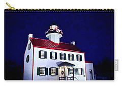 Christmas At East Point Lighthouse Carry-all Pouch