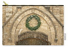 Christmas At Stone Chapel Carry-all Pouch