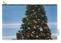 Christmas At The Beach Carry-all Pouch by Ralph Vazquez