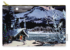 Christmas At The Lake V2 Carry-all Pouch by Ron Chambers