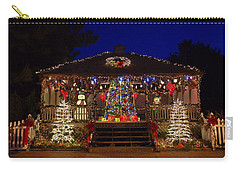 Christmas At The Lighthouse Gazebo Carry-all Pouch
