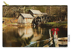Carry-all Pouch featuring the photograph Christmas At The Mill by Darren Fisher