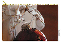 Christmas Ball And Bow Carry-all Pouch