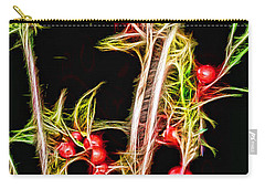 Carry-all Pouch featuring the photograph Christmas Berries by EricaMaxine  Price