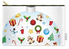 Christmas Bulb Art And Greeting Card Carry-all Pouch