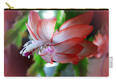 Carry-all Pouch featuring the photograph Christmas Cactus by EricaMaxine  Price